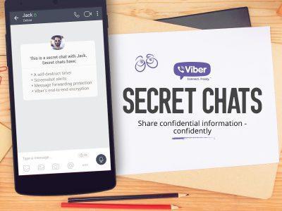 В мессенджере Viber появились секретные чаты с самоуничтожением сообщений, отключенной пересылкой сообщений и блокировкой скриншотов