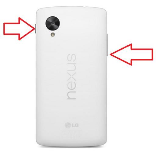 Использование кнопок для создания снимка экрана