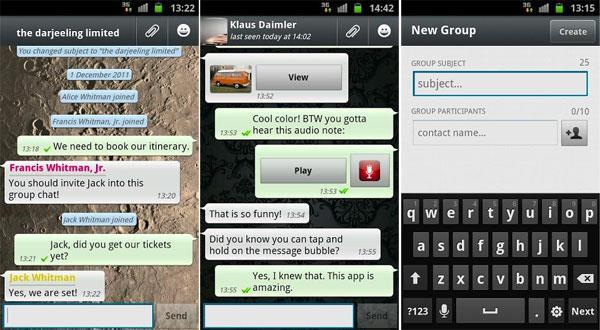 Скриншот программы WhatsApp 1