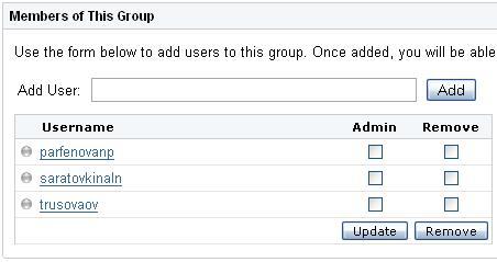 Добавление пользователя в группу OpenFire