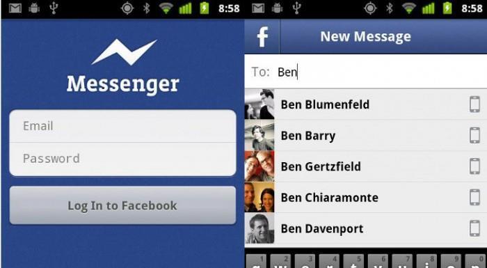 Messenger Facebook скачать на компьютер контакты