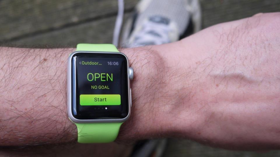 Начало пробежки с Apple Watch