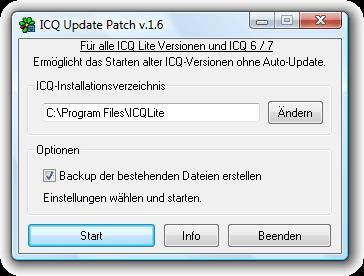 Надстройка ICQ Update Patch