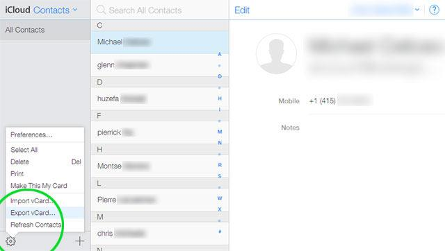 Как восстановить контакты из icloud