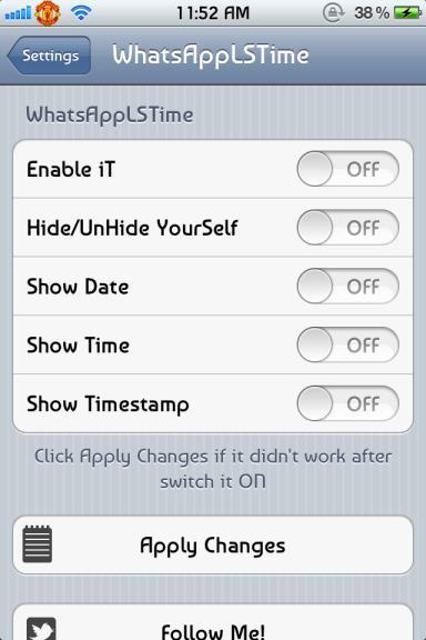 freeze whatsapp timestamp
