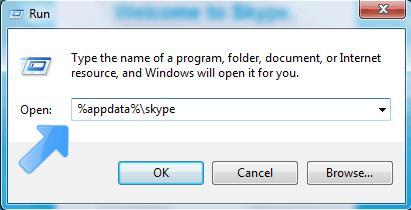 Переходим в папку с временными файлами skype