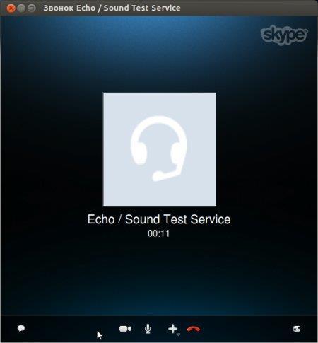 Рабочее окно переговоров в Skype