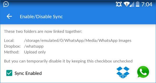 Настройки папки Media для WhatsApp
