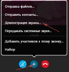«Демонстрация экрана»