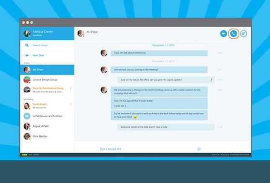Skype веб версия
