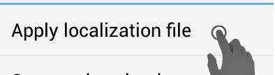 Apply localization file