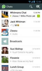 WhatsApp Messenger - программа для общения посредством СМС между вашими контактами в телефоне