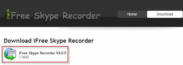 Скачать iFree Skype Recorder с официального сайта