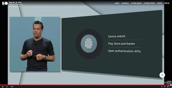 The native support for fingerprint sensors is reminiscent of Apple's Touch ID