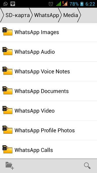Папка WhatsApp