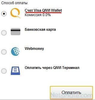 Выбираем первый способ оплаты