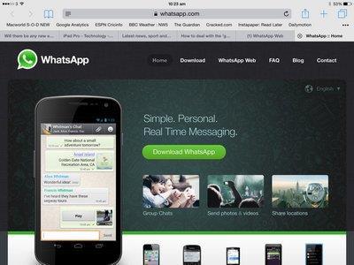 Популярность Whatsapp.com