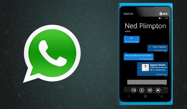 WhatsApp для Windows Phone