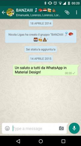 Android-версия WhatsApp получила Material Design