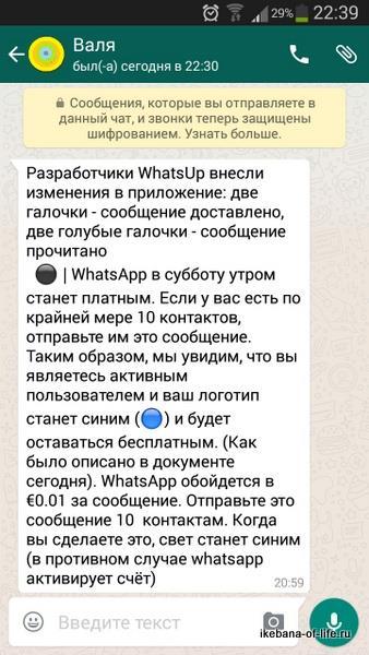 whatsApp станет платным?
