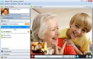 Скайп во время видеозвонка