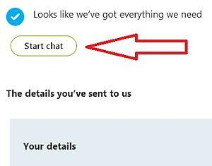 начать чат со службой поддержки скайпа