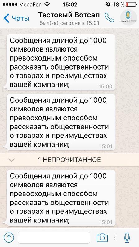 Рекламная рассылка в WhatsApp