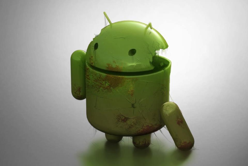 Поврежденный робот Android