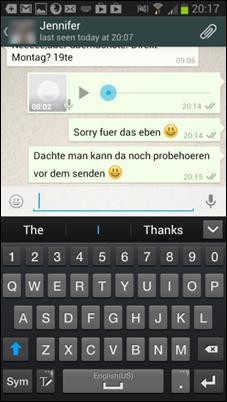 WhatsApp-голосовых сообщений