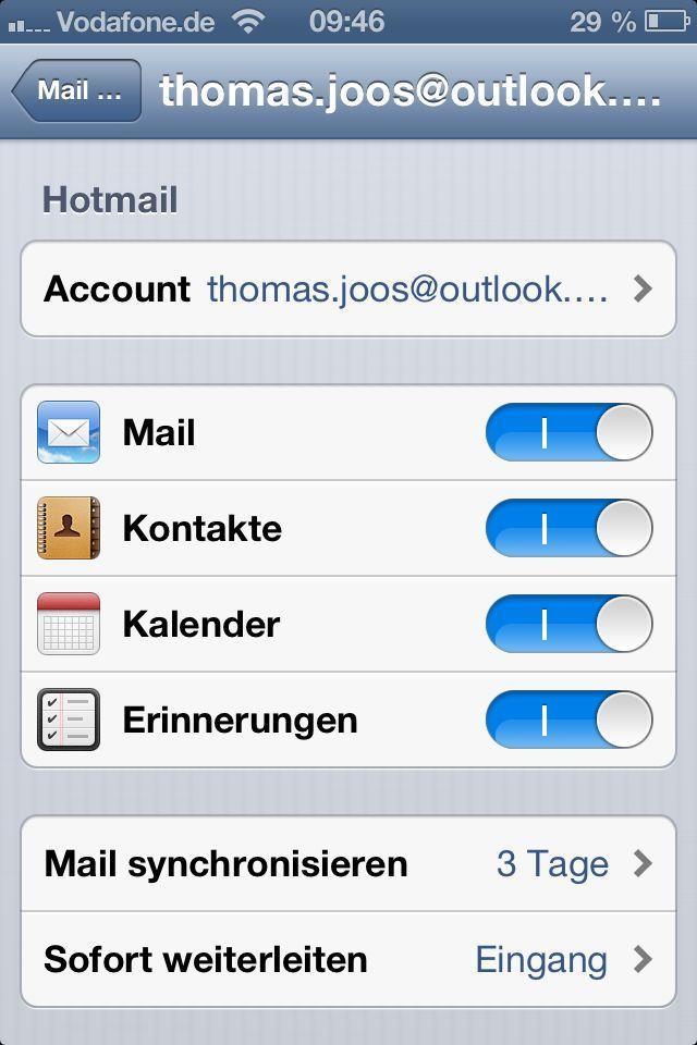 Почта на айфоне