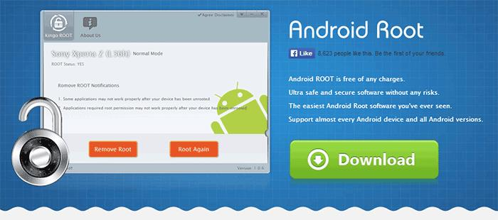 Программа Kingo Android Root на официальном сайте