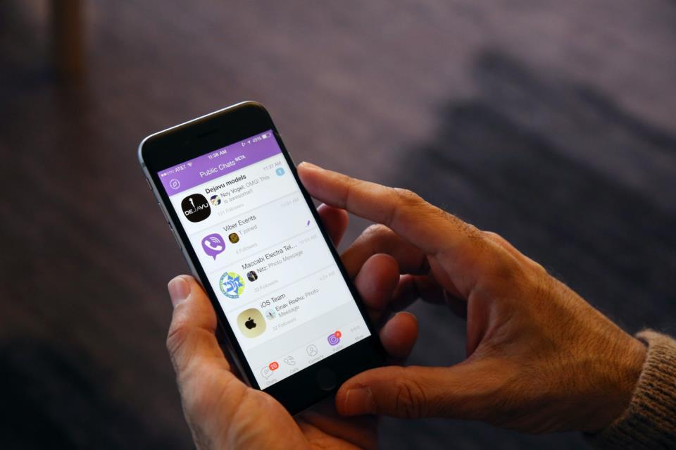 Приложение Viber на смартфоне