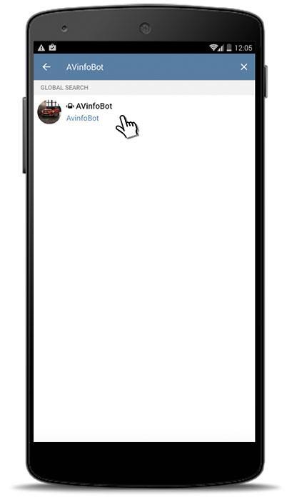 Avinfobot Telegram