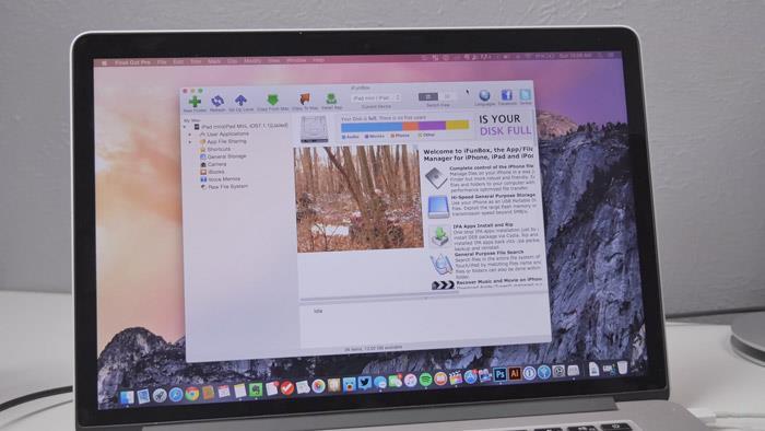 подключение iphone, ipad, ipod к ifunbox на компьютере