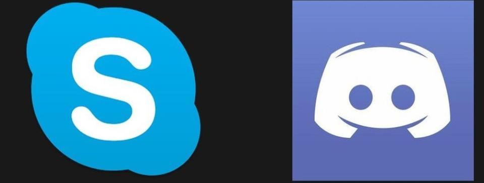 Логотипы Скайпа и Дискорда