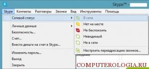 Статусы в Skype