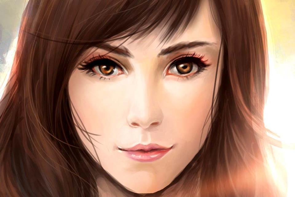 Аватарка - красивое лицо девушки