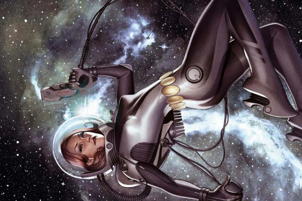 Скафандр, бластер, открытый Космос, полная свобода
