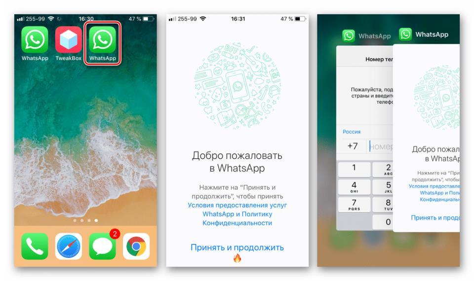 WhatsApp для айФона использование второго аккаунта через Watusi Duplicte из TweakBox
