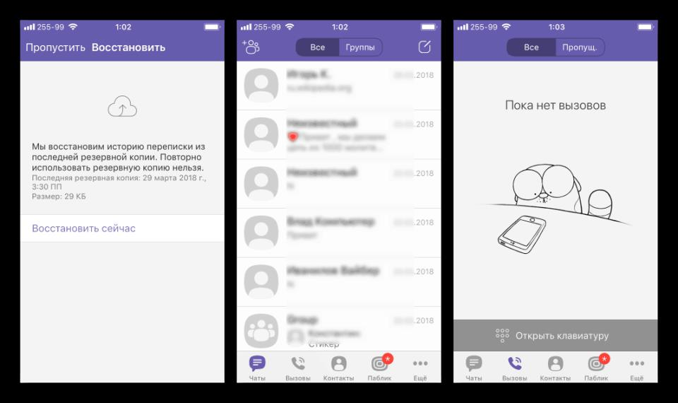 Viber для iPhone установленный ipa-файл через iTools готов к эксплуатации