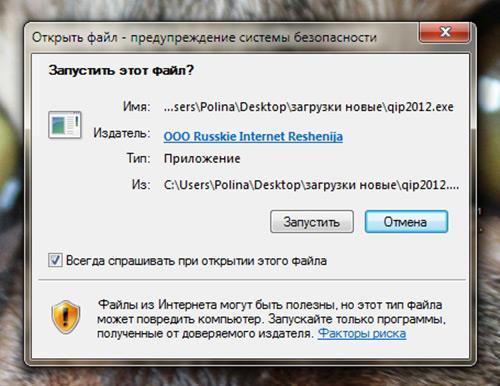 Запустить ли нам этот файл? Конечно, иначе зачем мы скачивали этот клиент ICQ