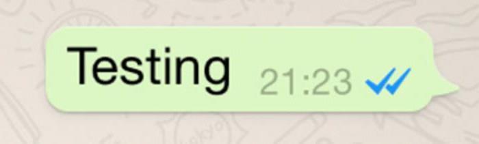 что значат две галочки в whatsapp