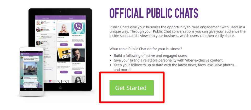 Публичный чат в Viber как создать ?