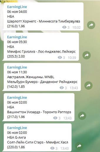 Пример работы бота парсера - отправка сообщений