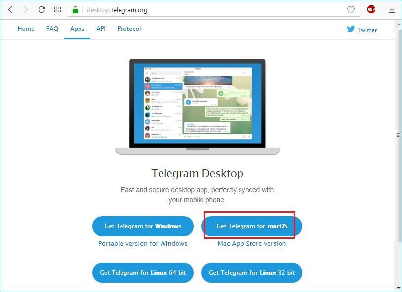 Версия Telegram для Mac OS