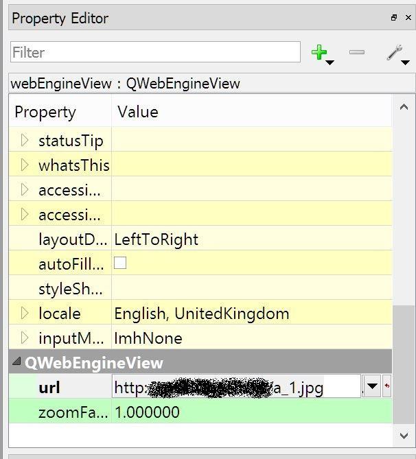 Компонент QtWebEngine в Qt Designer
