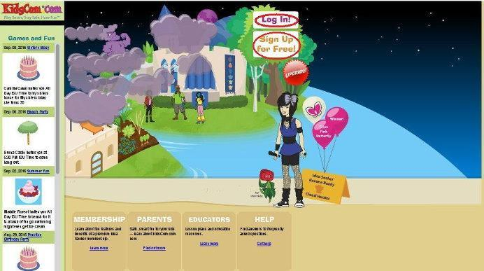 Скрин. Сайт для переписки с иностранцами для детей и подростков.