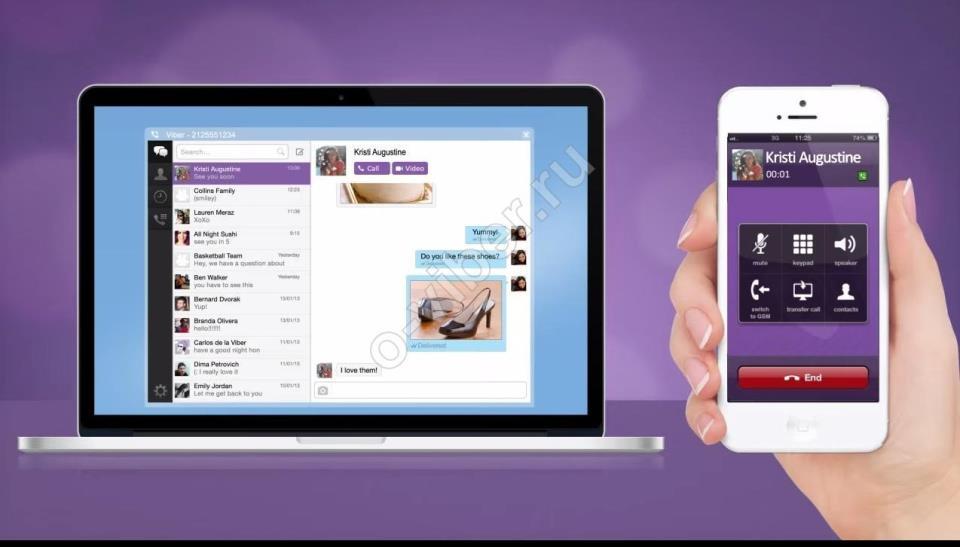 Работает ли Viber одновременно на двух устройствах?