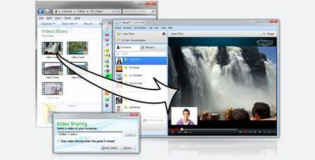 Показ видео собеседнику в Skype