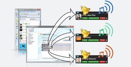 Отдельная мелодия для каждого контакта Skype